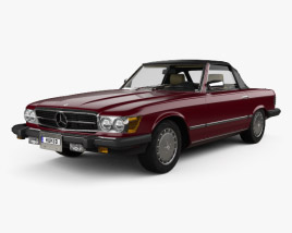 3D model of Mercedes-Benz SL-Class (R107) (US) 1974
