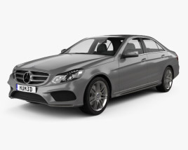 3D model of Mercedes-Benz E-Class (W212) AMG Sports Package 2013