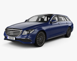 3D model of Mercedes-Benz E-Class (S213) Exclusive Line estate 2016