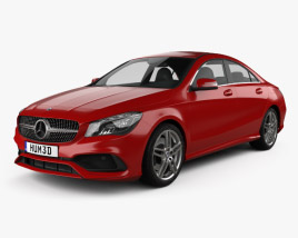 3D model of Mercedes-Benz CLA-Class (C117) AMG 2016
