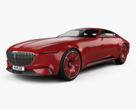 3D model of Mercedes-Benz Vision Maybach 6 2016