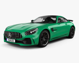 3D model of Mercedes-Benz AMG GT R 2016