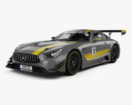 3D model of Mercedes-Benz AMG GT3 2015