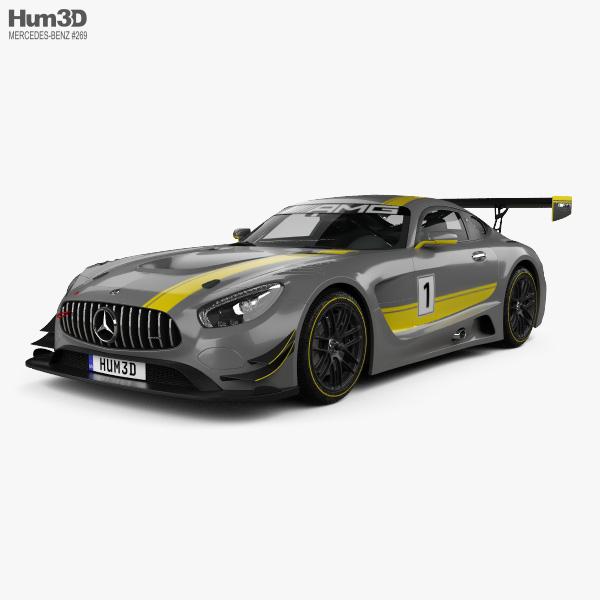 3D model of Mercedes-Benz AMG GT3 2015