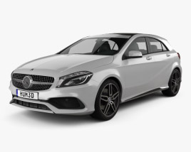 3D model of Mercedes-Benz A-Class (W176) AMG Line 2016