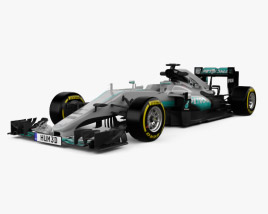 3D model of Mercedes-Benz AMG W07 F1 2016