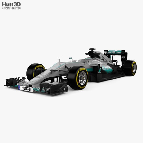 Mercedes-Benz AMG W07 F1 2016 3D model