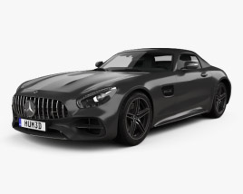 3D model of Mercedes-Benz AMG GT C Roadster 2017