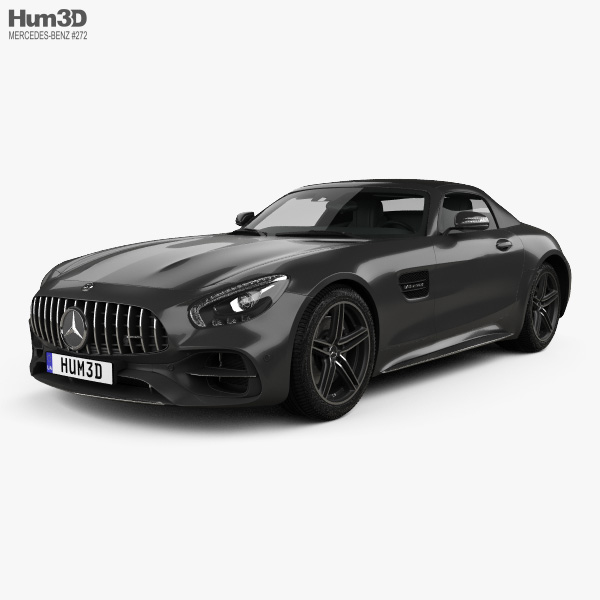 3D model of Mercedes-Benz AMG GT C Roadster 2017