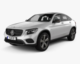 3D model of Mercedes-Benz GLC-Class (C253) Coupe 2016