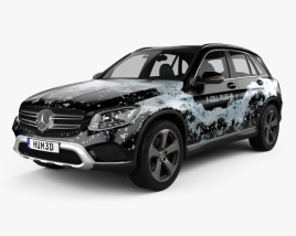 3D model of Mercedes-Benz GLC-Class (X205) F-Cell 2016