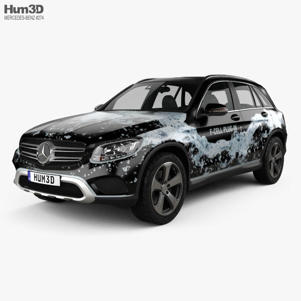 3D model of Mercedes-Benz GLC-Class (X205) F-Cell 2016