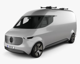 3D model of Mercedes-Benz Vision Van 2016