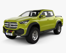 3D model of Mercedes-Benz X-class concept powerful adventurer 2017