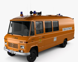 3D model of Mercedes-Benz L 508 D Emergency Command Vehicle 1978