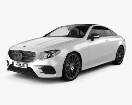 3D model of Mercedes-Benz E-Class (C238) Coupe AMG Line 2016