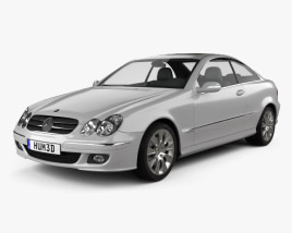 3D model of Mercedes-Benz CLK-Class (C209) Coupe 2005