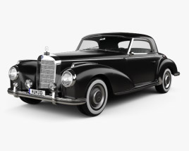 3D model of Mercedes-Benz 300 (W188) S Coupe 1951