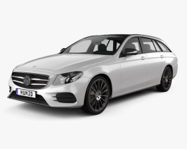 3D model of Mercedes-Benz E-Class (S213) AMG Line estate 2016