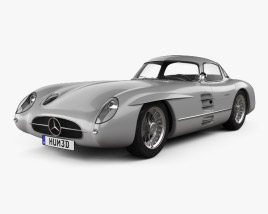 3D model of Mercedes-Benz SLR 300 Uhlenhaut Coupe 1955