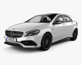 3D model of Mercedes-Benz A-Class (W176) AMG 2015