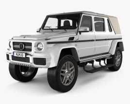 3D model of Mercedes-Benz G-Class (W463) Maybach Landaulet 2017