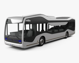 3D model of Mercedes-Benz Future Bus 2016