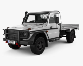 3D model of Mercedes-Benz G-Class (W463) Single Cab Alloy Tray 2017