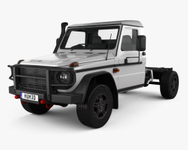 3D model of Mercedes-Benz G-Class (W463) Single Cab Chassis 2017