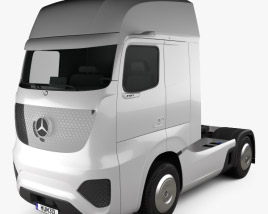 3D model of Mercedes-Benz Future Truck 2025