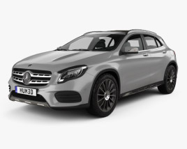 3D model of Mercedes-Benz GLA-Сlass (X156) AMG Line 2017