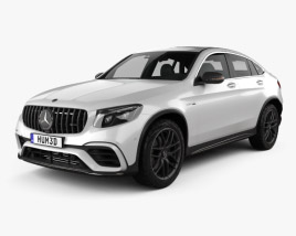3D model of Mercedes-Benz GLC-Class (C253) Coupe S AMG 2017