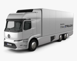 3D model of Mercedes-Benz Urban eTruck 2016