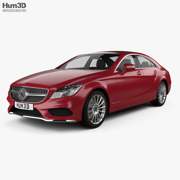 3D model of Mercedes-Benz CLS-class AMG Sports Package 2014