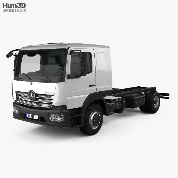 3D model of Mercedes-Benz Atego L-Cab Chassis Truck 2013