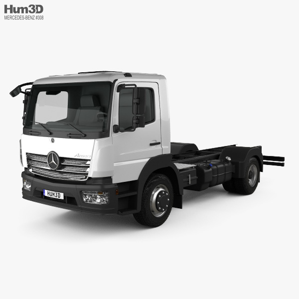 3D model of Mercedes-Benz Atego S-Cab Chassis Truck 2013