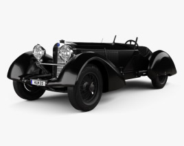 3D model of Mercedes-Benz 710 SSK Trossi Roadster 1930