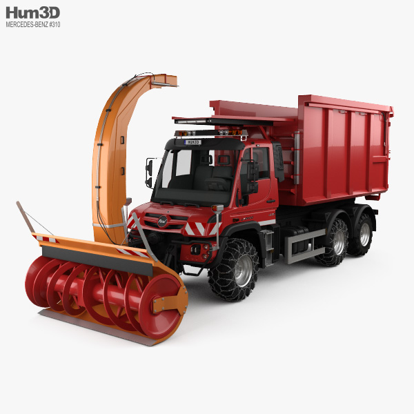 Mercedes-Benz Unimog U530 Paul Snow Plow Truck 2016 3D model
