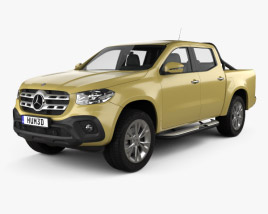 3D model of Mercedes-Benz X-Class Progressive 2017