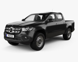 3D model of Mercedes-Benz X-Class Pure 2017