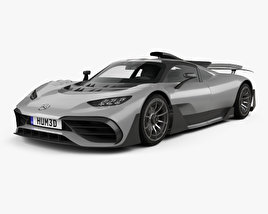3D model of Mercedes-AMG Project ONE 2017
