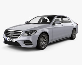 3D model of Mercedes-Benz S-class (V222) LWB AMG Line 2017