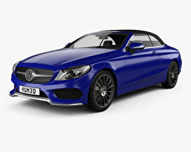 3D model of Mercedes-Benz C-class (A205) convertible AMG line 2016