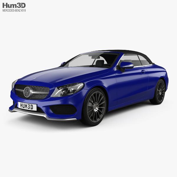 Mercedes-Benz C-class (A205) convertible AMG line 2016 3D model
