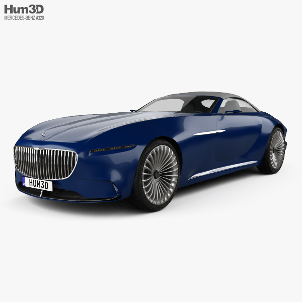 3D model of Mercedes-Benz Vision Maybach 6 cabriolet 2017