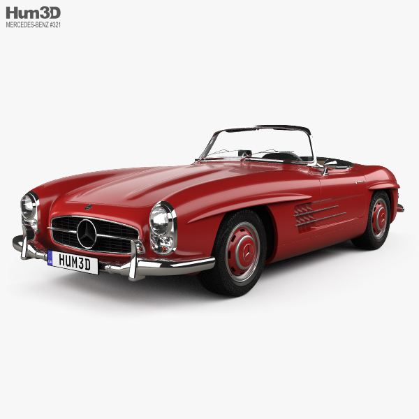 Mercedes-Benz 300 SL with HQ interior 1957 3D model