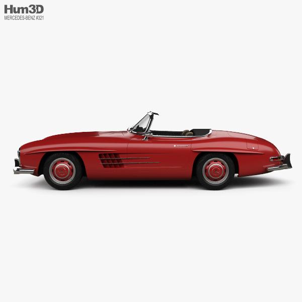 Mercedes-Benz 300 SL with HQ interior 1957 3D model