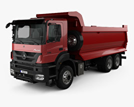 3D model of Mercedes-Benz Axor Tipper Truck with HQ interior 2005