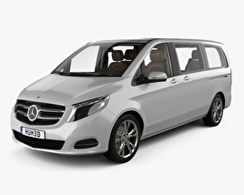 3D model of Mercedes-Benz V-class with HQ interior 2014