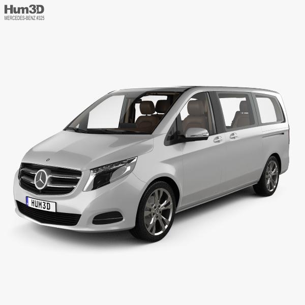3D model of Mercedes-Benz V-class with HQ interior 2014